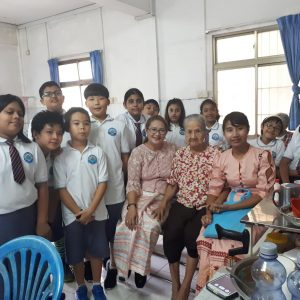 SKT International College မွ Primary Students ( Year -5 ) ေက်ာင္းသား/သူမ်ား  ႏွင္းဆီကုန္းဘုိးဘြားရိပ္သာႀကီးသို႔ သြားေရာက္လ်ဴဒါန္း