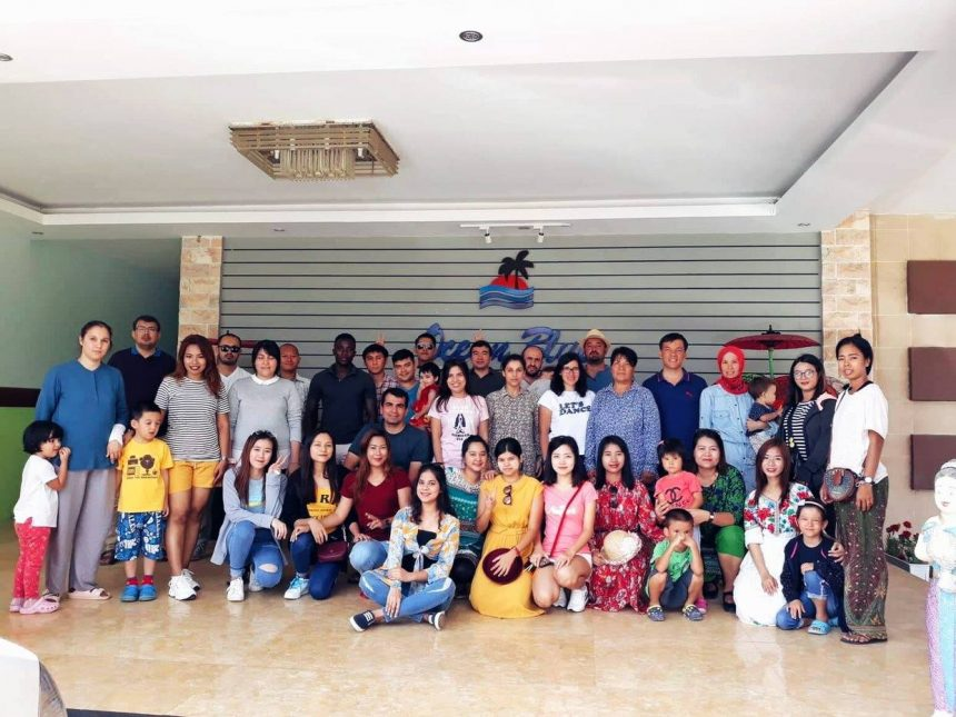 Happy Ngwe Saung beach vacation of our SKT teachers and staff